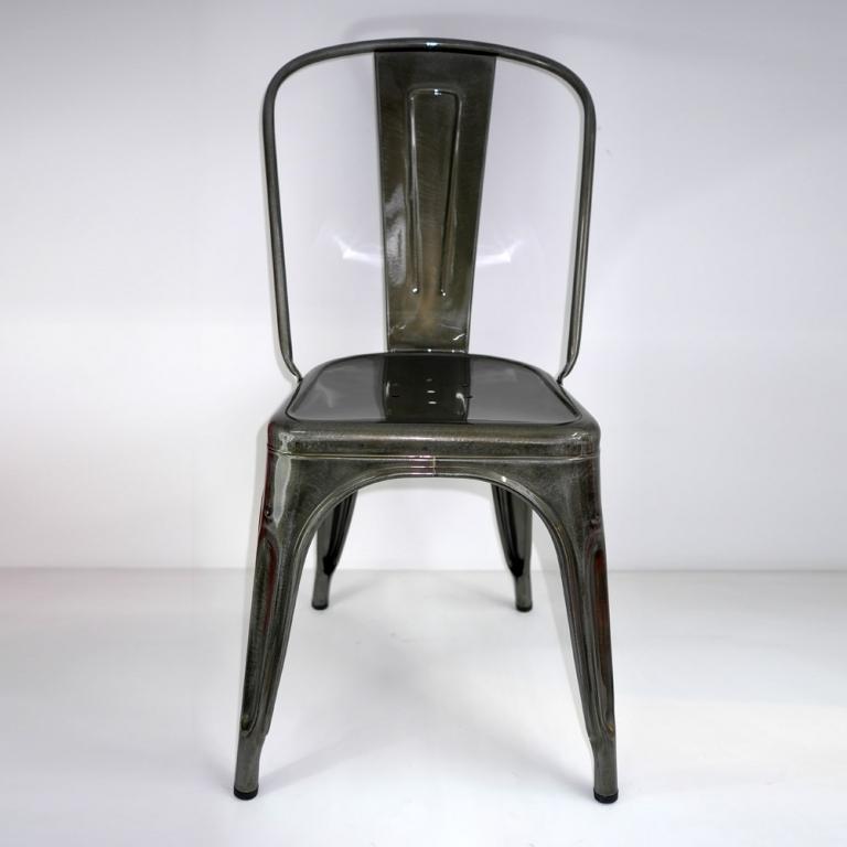chaise a finition acier m tal tolix. Black Bedroom Furniture Sets. Home Design Ideas